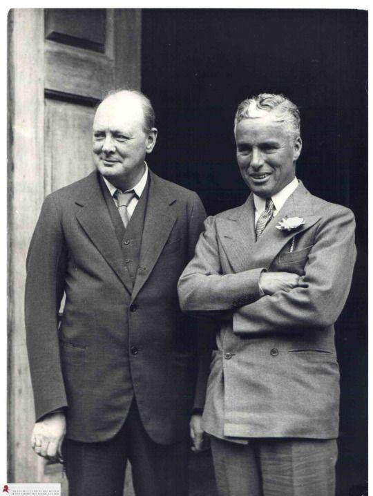 Winston Churchill and Charlie Chaplin