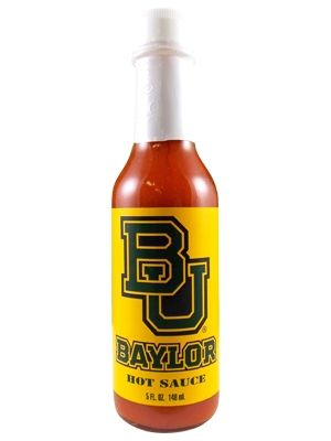 Anyone try this? // Show your love for the Baylor Bears with this officially-licensed #Baylor University Hot Sauce!: Hot Sauce, Schools
