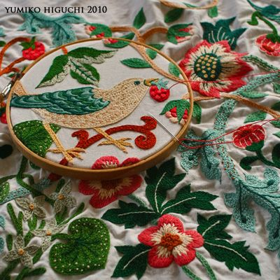 patterns from William Morris fabric stitched by yumiko higuchi