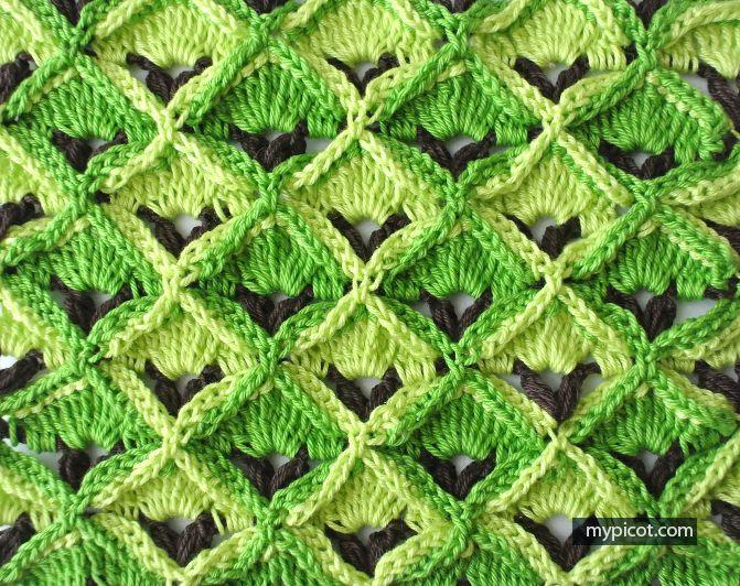 Crochet textured stitch  MyPicot | Free crochet patterns