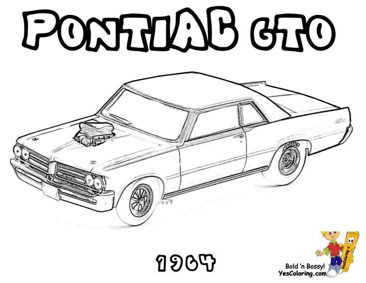 24 best brawny muscle car coloring pages images on for Pontiac gto coloring pages