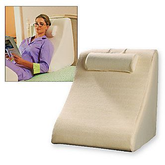 Wedge Pillow perfect for reading in bed: