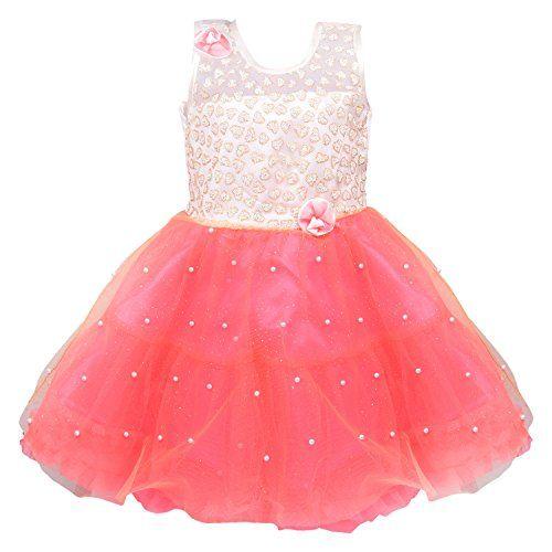 Wish Karo Baby Girls Party Wear Frock Dress DN Fe2215-12-18 Mths