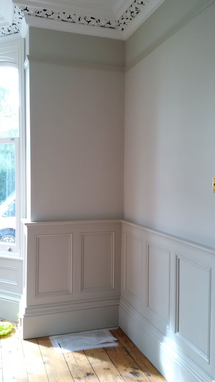 3m high ceiling with cage coving, picture rail and 1.05m high wainscot panelling.