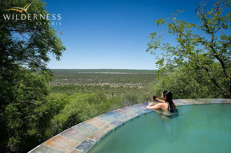 Little Ongava: Each unit features its own plunge pool, a sala, and an en-suite bathroom with both indoor and outdoor showers and a bath with a magnificent view. #Africa #Safari #Namibia