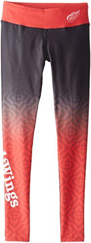 NHL Detroit Red Wings Women's Gradient Print Leggings, Red, Small  http://allstarsportsfan.com/product/nhl-detroit-red-wings-womens-gradient-print-leggings-red-small/  88% polyester 12% Elastane 100% officially licensed by KLEW The perfect leggings for game day or any day