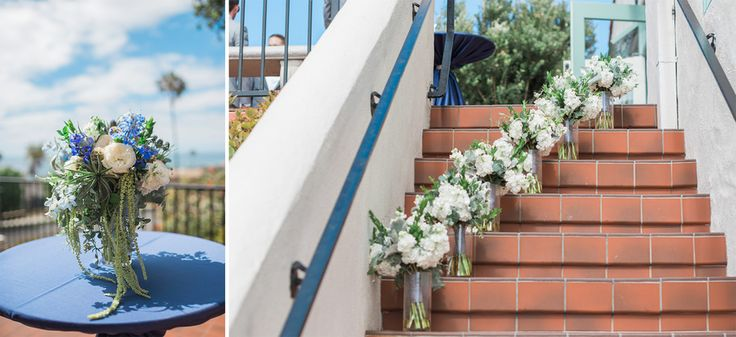 Nicole and Ben's beautifully blue July 4th wedding at the Thursday Club in San Diego, California is a must see for all the inspirational details alone! Photos by Studio Sequoia #beachwedding #thursdayclubwedding #4thofjulywedding