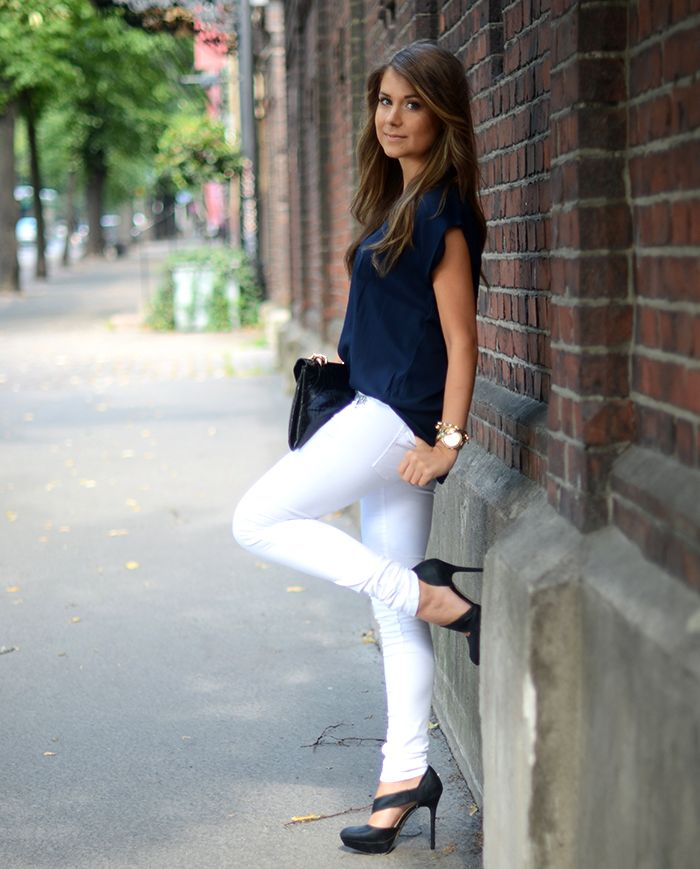 1000  images about White Slacks/Jeans/Shorts on Pinterest | White