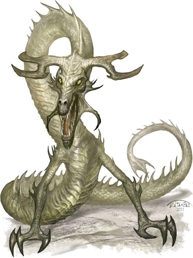 Lindworm Dragon: Fantasy Beasts, Fantasy Monster, Fantasy