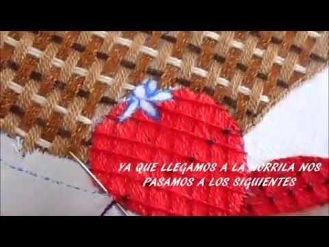 PASO PASO PUNTADA MIL ESTRELLAS EN NARANJA - YouTube