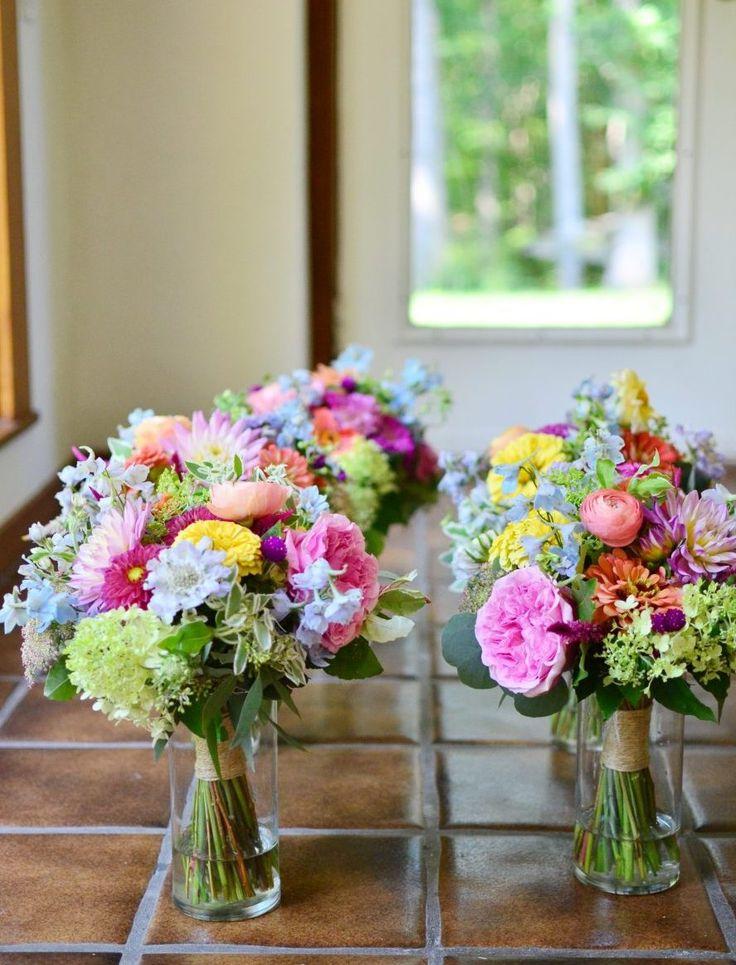 Photo & Flowers: Koko Floral Design  #ウェディングブーケ #ブーケ #カラフル #夏 #ブライズメイドブーケ
