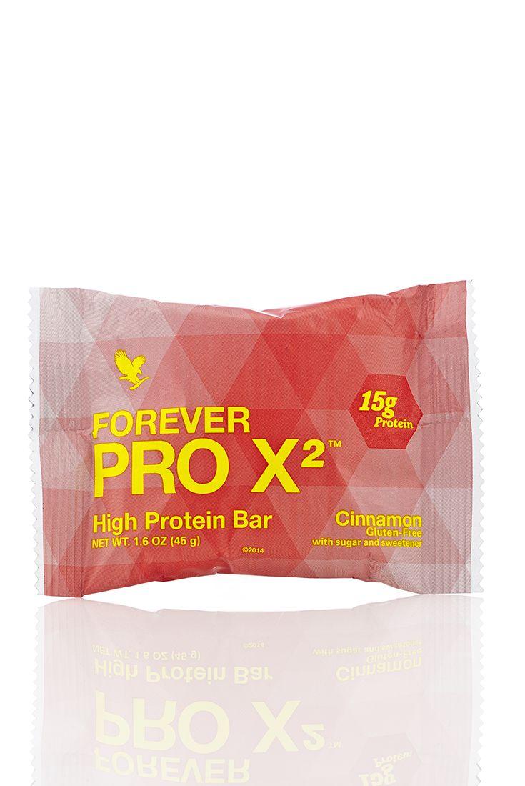 Forever PRO X2 offre una miscela brevettata di proteine della soia isolate e proteine provenienti dal siero di latte isolate e concentrate, insieme a 2 grammi di fibra alimentare in ogni deliziosa barretta, per contribuire alla formazione della massa muscolare e aiutarti a raggiungere i tuoi obiettivi nel mantenimento del peso. Gusto Cannella.  Contenuto 45 gr. (art. 466)