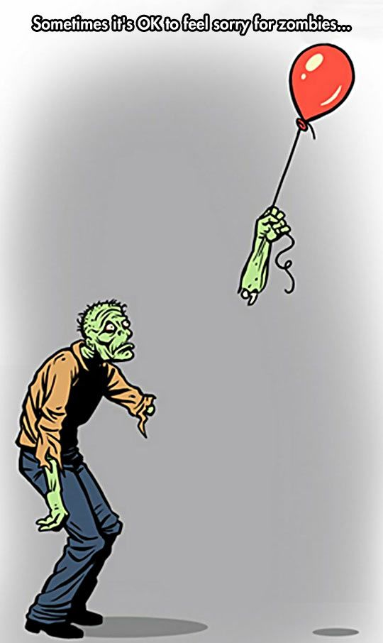 oh my goodness. I am about to cry over a zombie loosing a balloon!