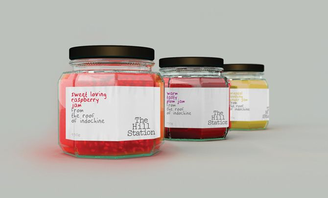 The Hill Station jam #packaging  Interesting way to do long-product-name products