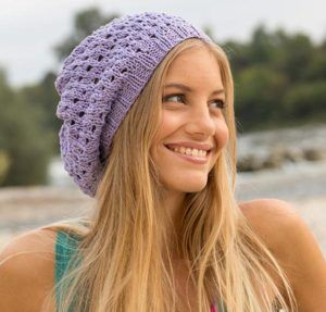 Knitted lace hat pattern