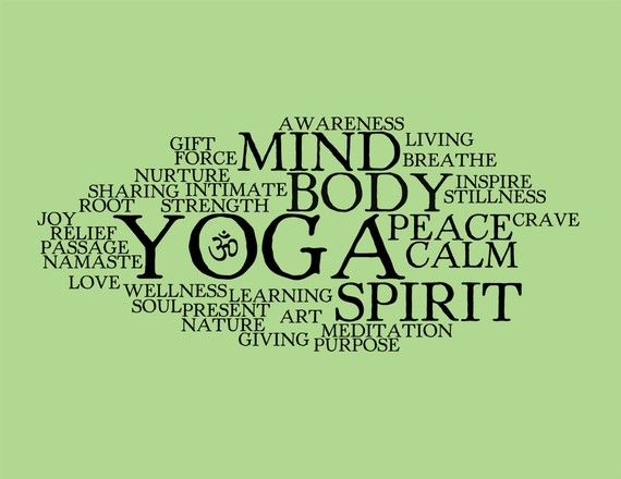 Yoga Word Collage  8x10 Art Print par cjprints sur Etsy, $13.99
