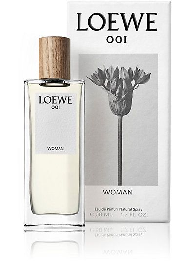 "The 001 Woman Eau De Parfum 50ml from LOEWE  001 Woman Eau De Parfum represents the sensory expression of a character that's both identifiable and novel. It interprets the notions of purity and the uncertain promise associated with the early hours following a first intimate encounter between two people, ""the morning after."" Top notes: bergamot. Middle notes: sandalwood. Base notes: jasmine, vanilla."