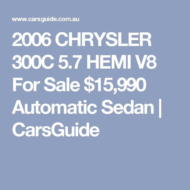 17 Best Ideas About Chrysler 300c Hemi On Pinterest