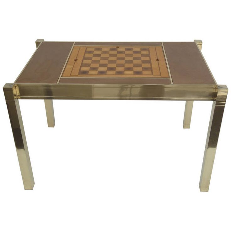 Perfect Glamorous, Polished Brass Backgammon Game Table