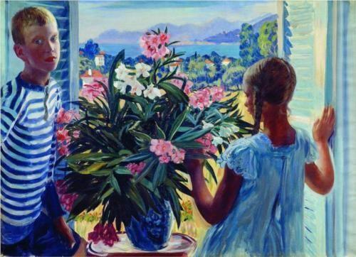 Children of the artist - Boris Kustodiev