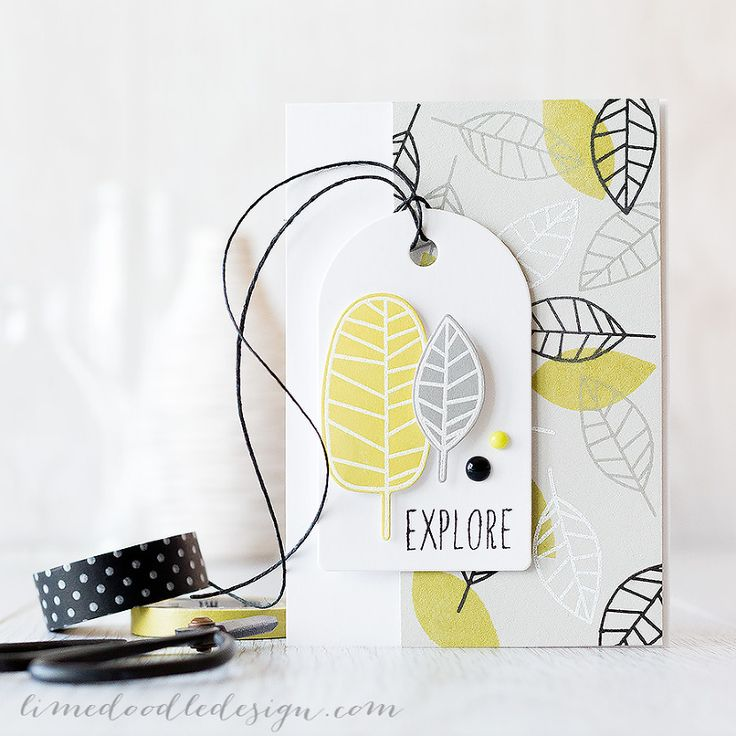 This stamped leaf background is inspired by Elouise Renouf. I used the One With Nature set from Simon Says Stamp and the new Color Of Fun inks. Find out more by clicking on the following link: http://limedoodledesign.com/2015/06/leaf-background/ ~ Debby Hughes ~ Lime Doodle Design