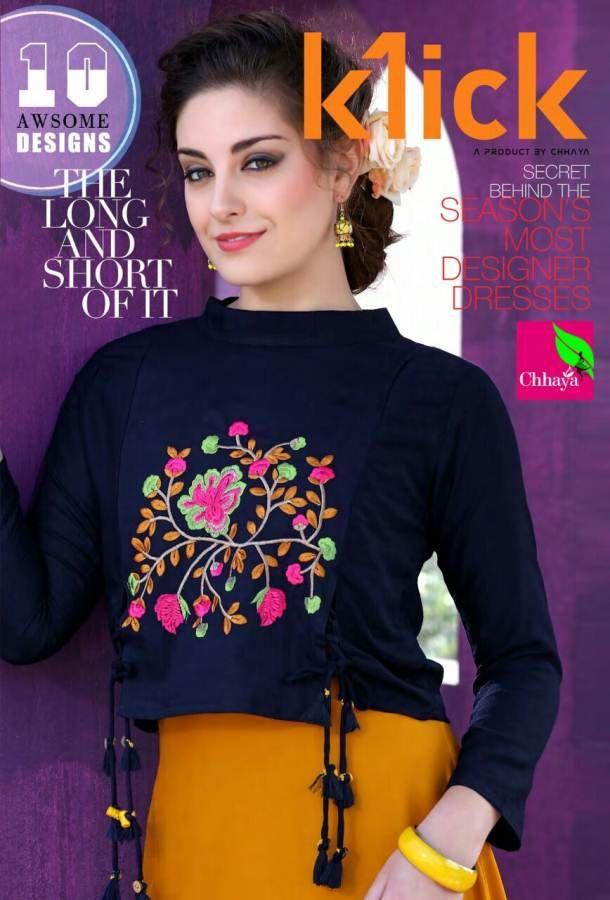 88c845334a Chhaya-klick designer beautiful colorful fancy stylish casual wear rayon  slub long kurti wholesale price in 2019 | Online Kurti Shopping at Wholesale  Price ...