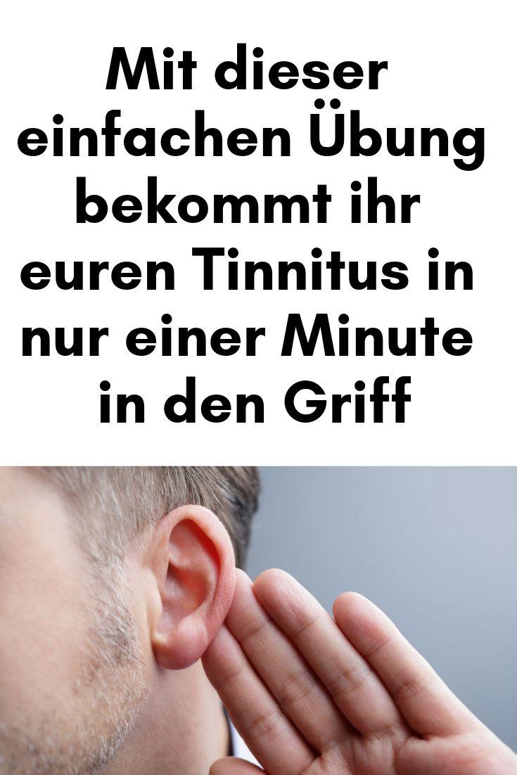 Mit dieser einfachen Übung bekommt ihr euren Tinnitus in nur einer Minute in de… R.Brandenburger