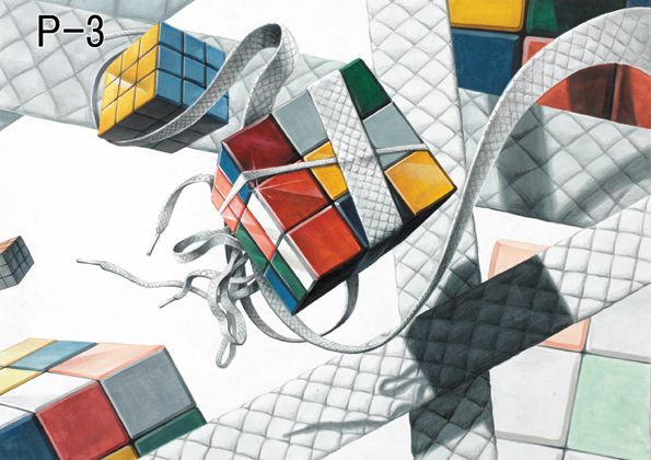 abstract objects – Rubik's Cube is a 3-D combination puzzle invented in 1974 by Hungarian sculptor and professor of architecture Ernő Rubik (born 1944). Originally called the Magic Cube, the puzzle was licensed by Rubik to be sold by Ideal Toy Corp.