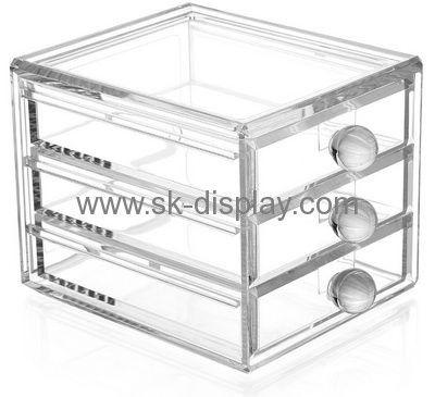 Custom design acrylic plastic display cases acrylic organiser makeup case CO-149