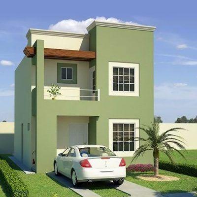 Colores para exteriores de casa pastel pinteres for Pintura exterior de casas