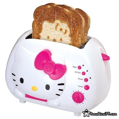 Hello Kitty toaster -- puts Hello Kitty on yours toast! XD