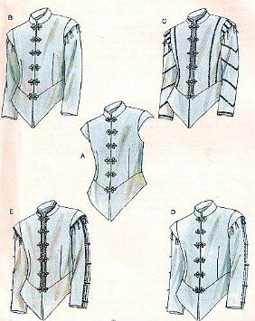 Amazon.com: McCalls 4695 Mens Renaissance Doublets Costume Pattern Size 34-36-38-40: Arts, Crafts & Sewing