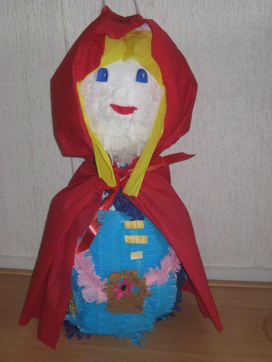 Piñata Caperusita Roja, Little Red Riding Hood, Roodkapje