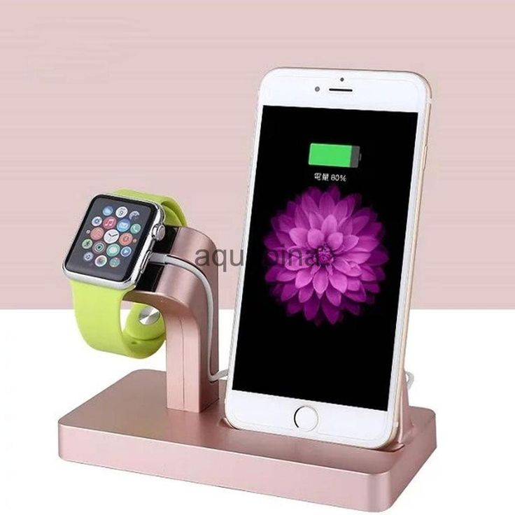 Charging Cradle Smart Watch Charger Dock for iPhone Apple Watch Rose Gold | eBay