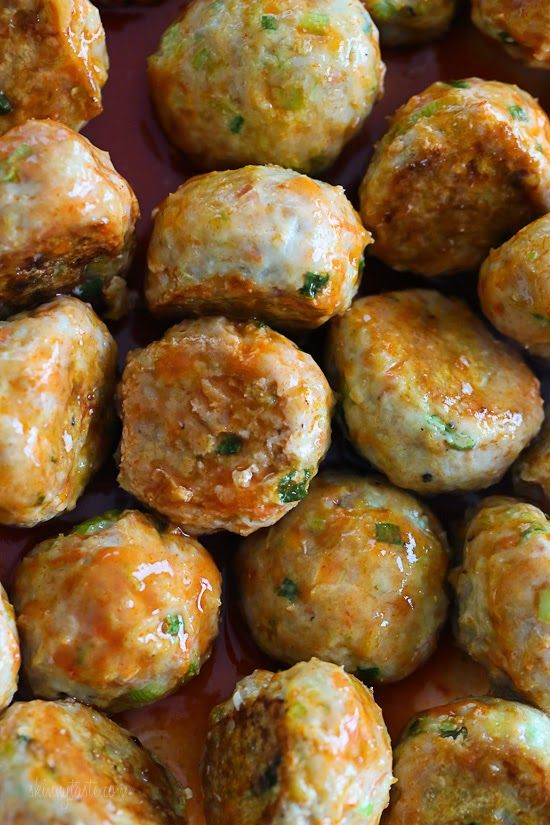 Buffalo Chicken Meatballs | Skinnytaste