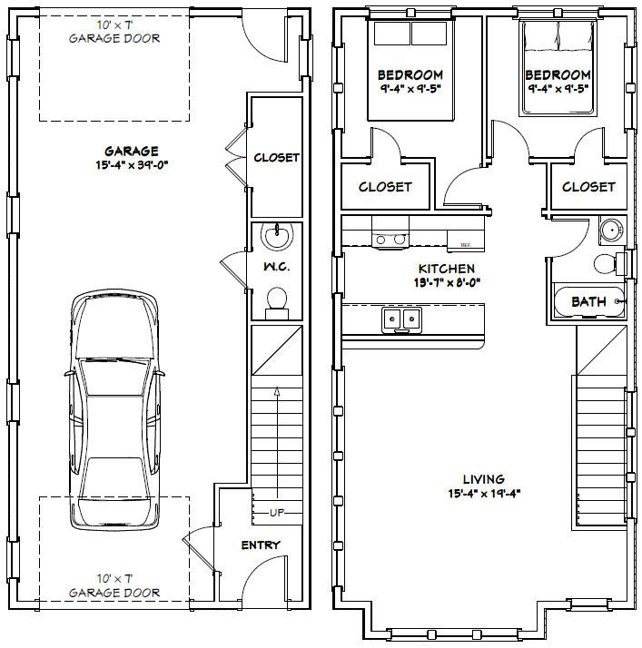 Best 25 20x40 house plans ideas on pinterest for 20x40 house layout