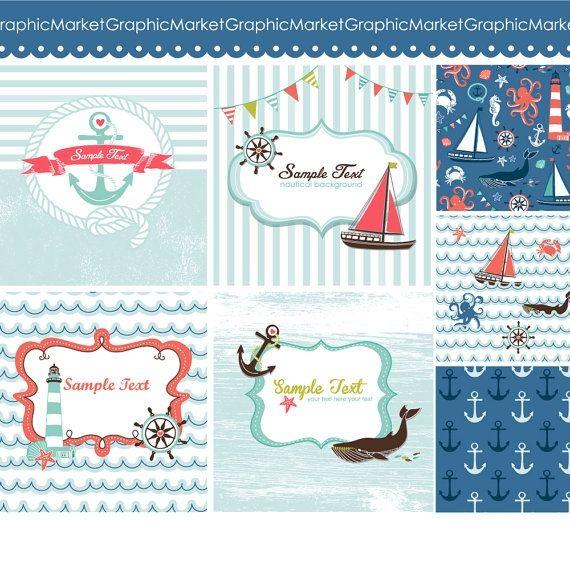Nautical Cards - Luvly Marketplace   Premium Design Resources #cards #digitalcards