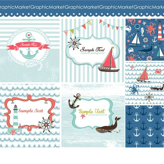 Nautical Cards - Luvly Marketplace | Premium Design Resources #cards #digitalcards