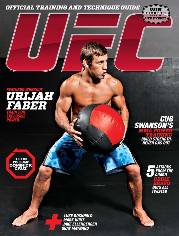 Urijah Faber and Cub Swanson's MMA Power Training featured in UFC magazine. A complete workout!