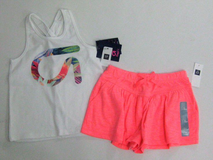 NWT Gap Kids Size XS 4-5 Gapfit Fit Active Tank Top Factory 5t Neon Knit Shorts  | eBay