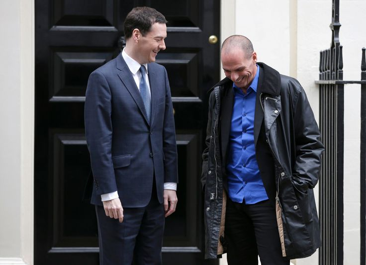Greek finance minister Yanis Varoufakis goes casual at number 10