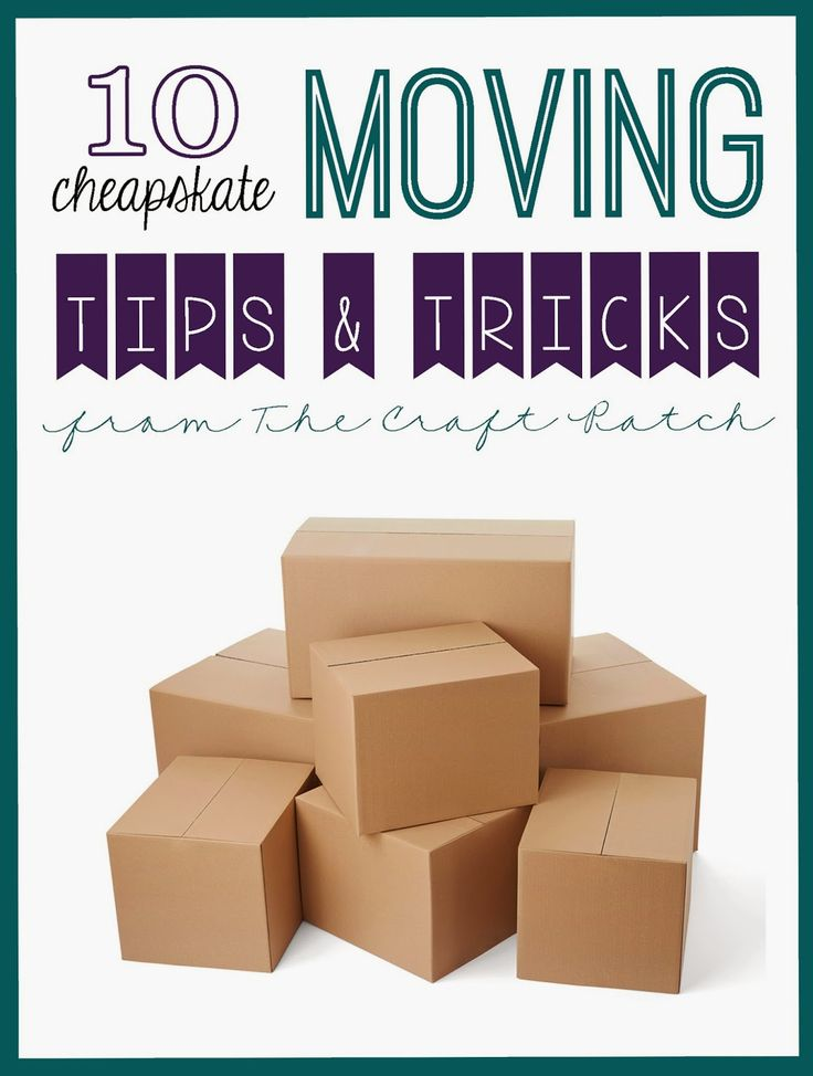 How to save money (and your nerves) when moving... 10 Cheapskate Moving Tips & Tricks from The Craft Patch! Get all her advice on www.FunCheapOrFree.com