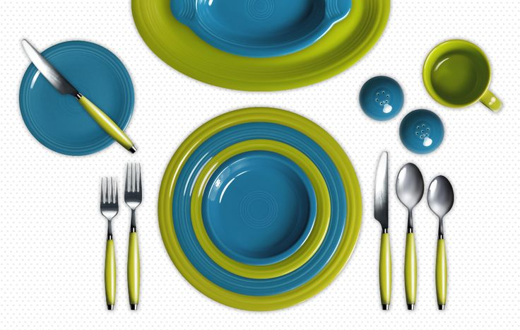 Check Out My Colorama By Fiesta Customized Table Setting