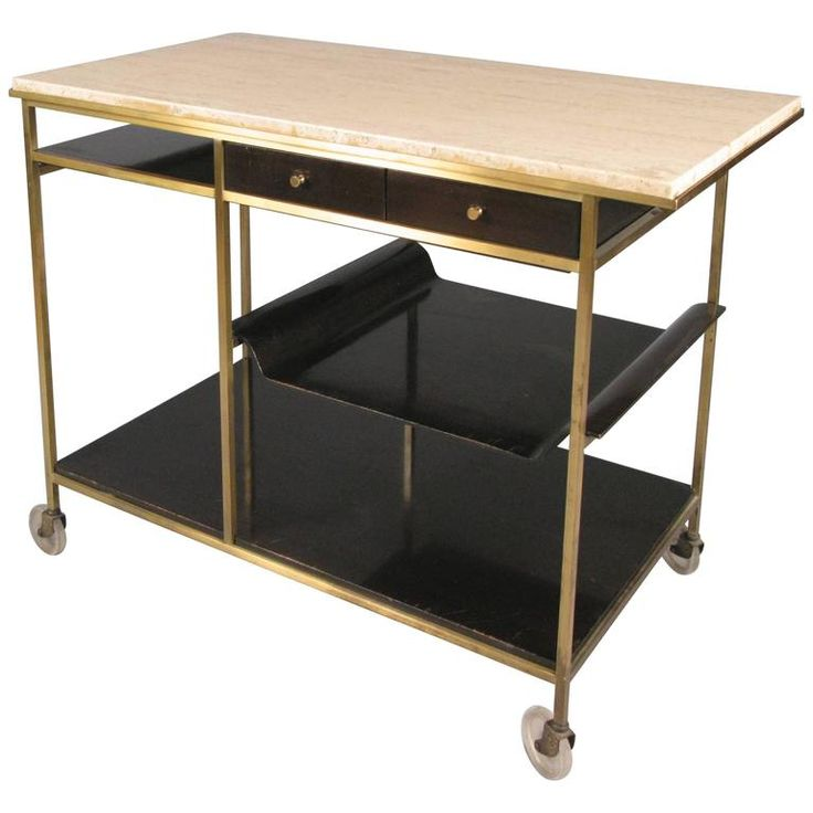 Lovely Paul Mccobb Bar Cart