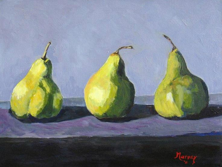3 pears - acrylic painting Year 9 or 10 lesson - great art lesson/teaching idea