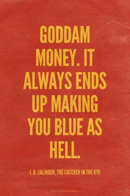 Quotes Holden Depression Catcher Rye