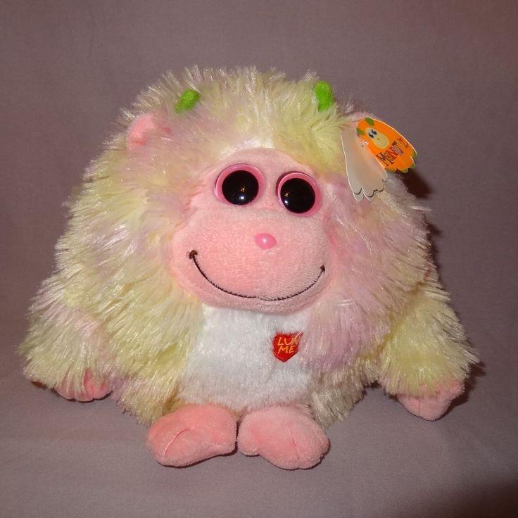 Lola Baby Monstaz Ty Plush Stuffed Animal Sounds Pink Yellow Big Eyes 2012  7