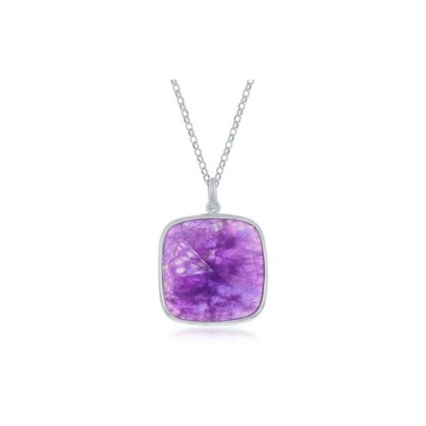 Ross-Simons Amethyst Pendant Necklace in Sterling Silver. 18 inches,... ($75) ❤ liked on Polyvore featuring jewelry, necklaces, purple, square necklace, purple jewelry, purple pendant necklace, sterling silver pendant necklace and square pendant necklace