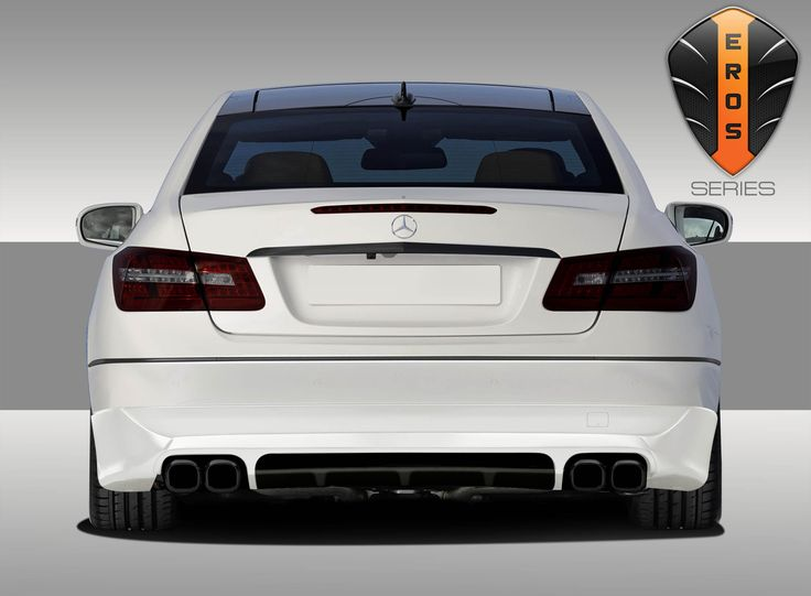 2010-2013 Mercedes E Class C207 2DR A207 Convertible Eros Version 1 Rear Lip Under Spoiler Air Dam - 1 Piece