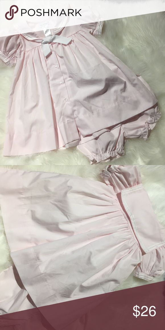Petite Pomme Nautical soft pink dress 18 months Euc Petite Pomme Nautical soft pink dress with matching bloomers. Adorable 18 months. Petite Pomme Dresses